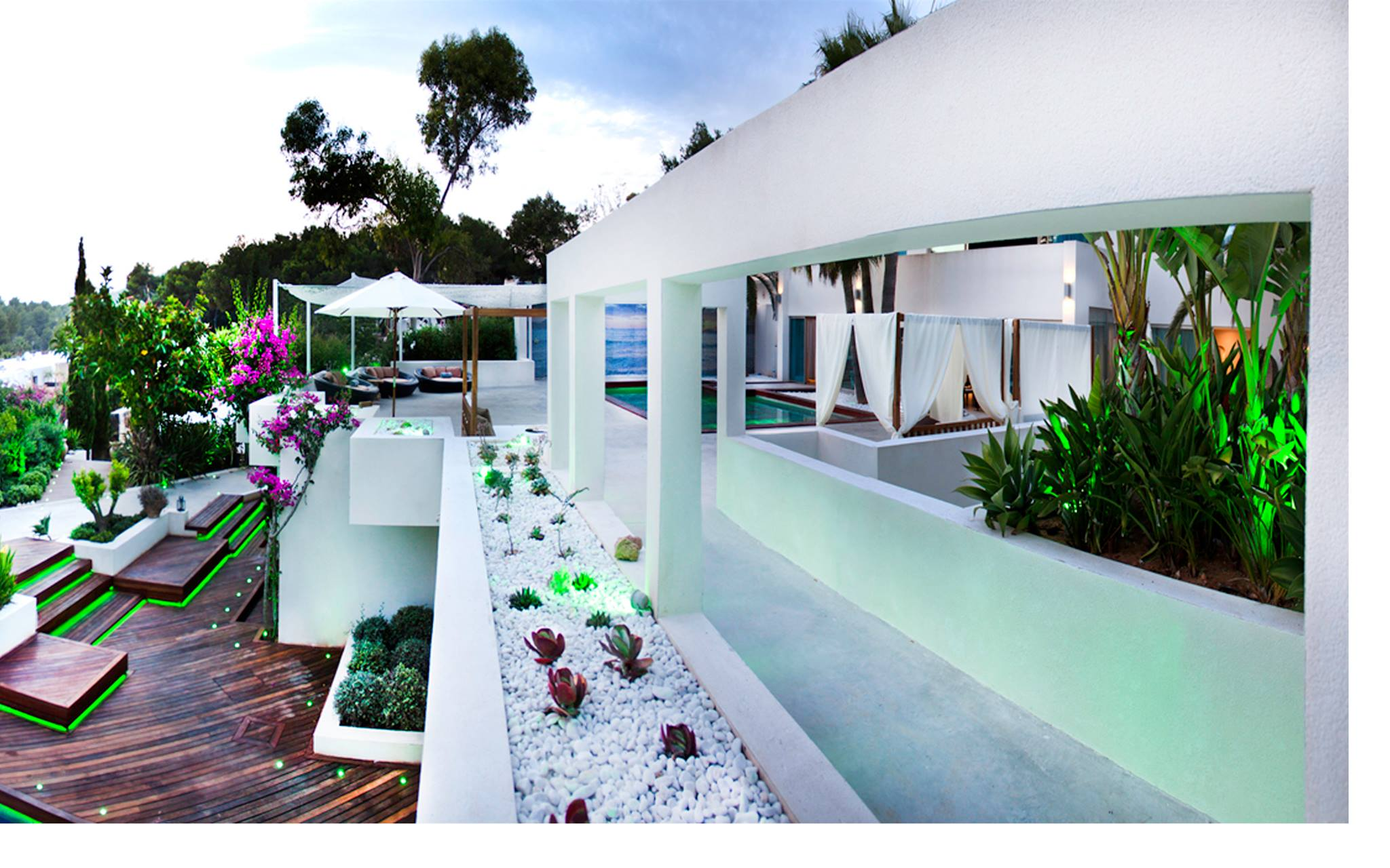 luxurious villa urbanization of Roca Llisa Ibiza