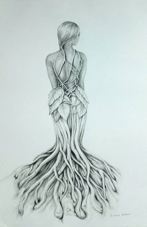 """white entangled Girl"" Ximena Yutronic Art Gallery"