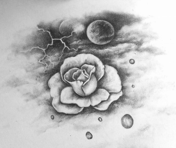 Moon Flower drawing